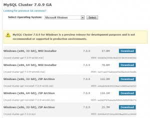 MySQL Cluster Downloads
