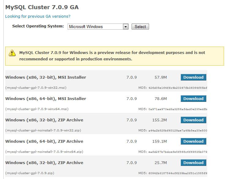 Running MySQL Cluster over multiple Windows servers | Andrew Morgan
