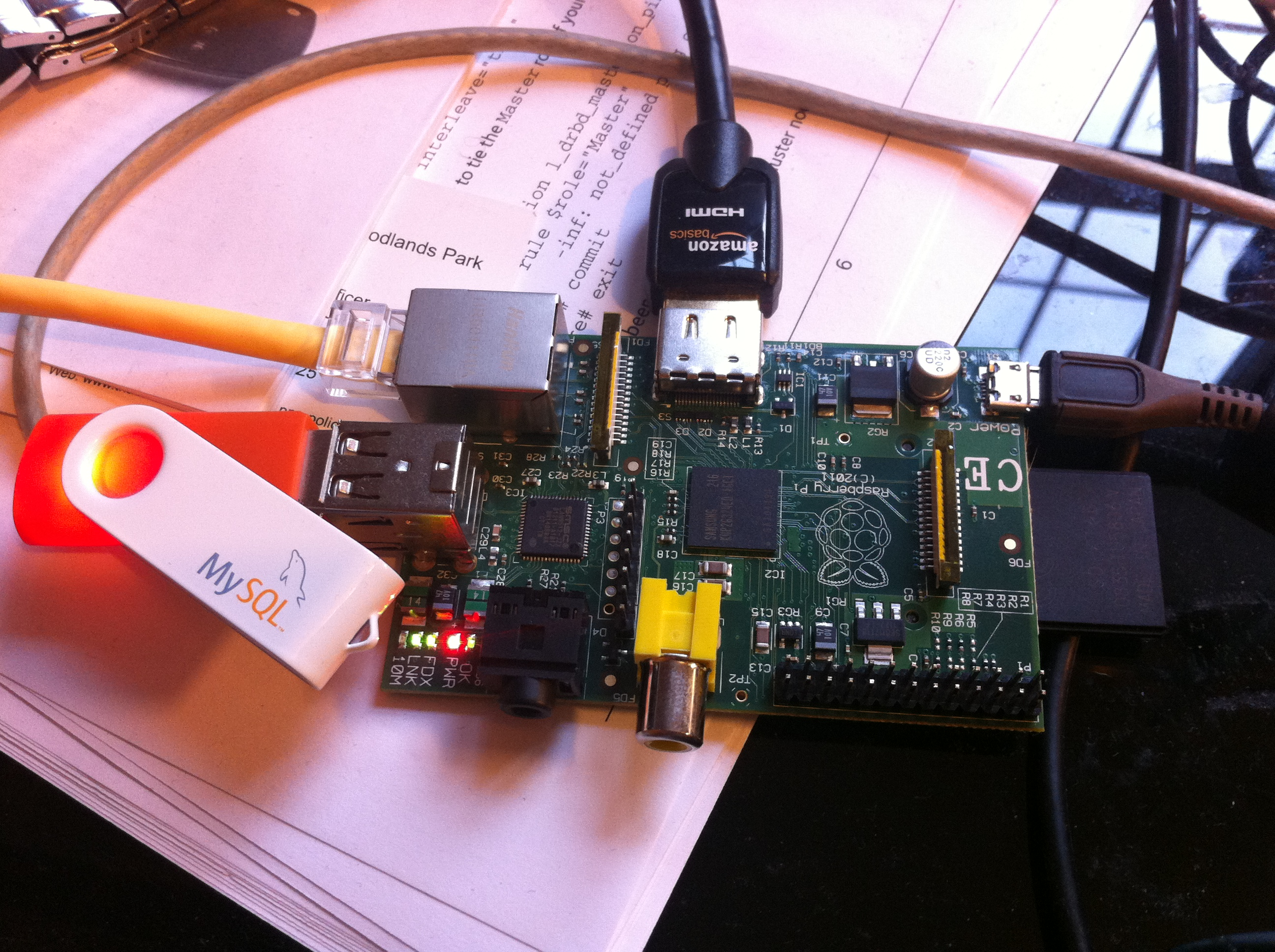 MySQL Cluster running on Raspberry Pi | Andrew Morgan on Databases
