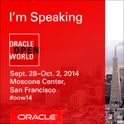 I'm speaking at MySQL Central @ Oracle OpenWorld 2014