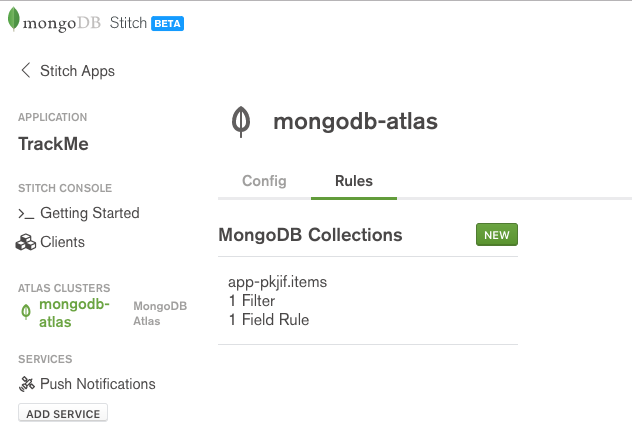 MongoDB Stitch BaaS data rules